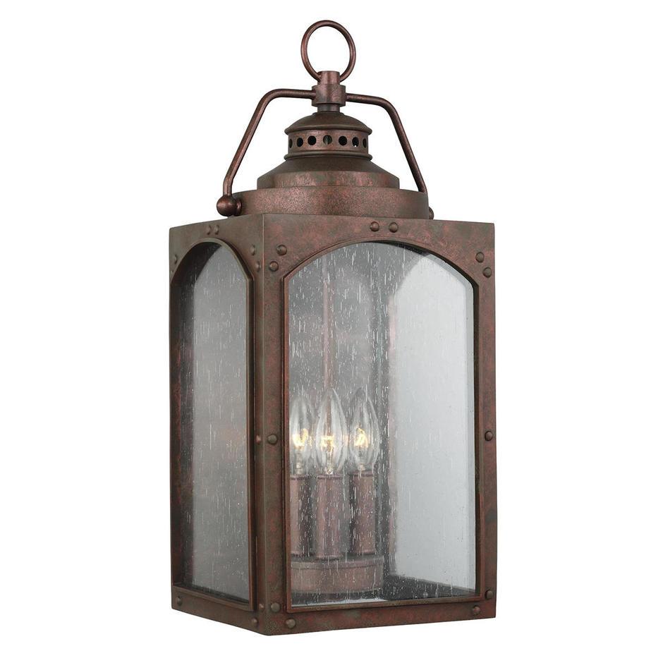 Randhurst Outdoor 3 Light Wall Lantern