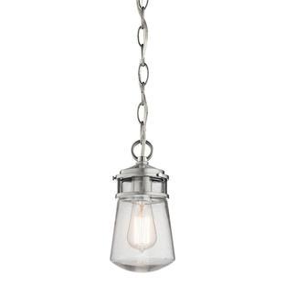 Lyndon Brushed Aluminum Hanging Lantern