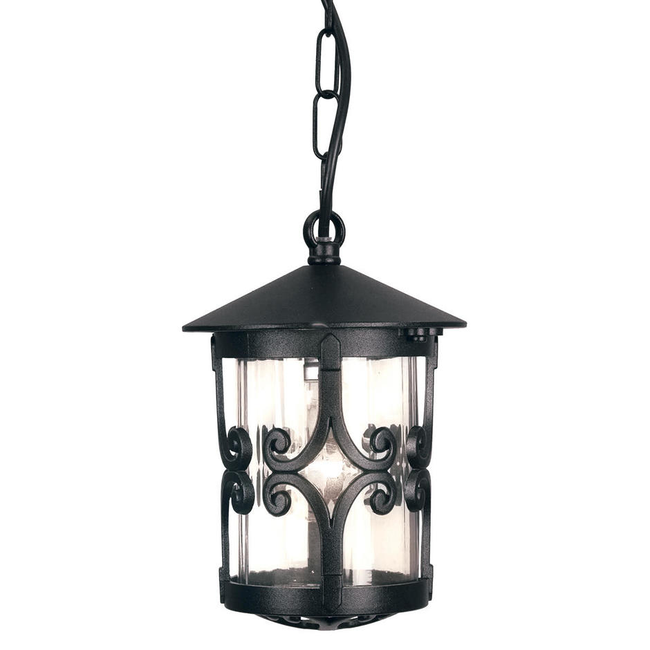 Hereford Scroll Outdoor Hanging Chain Lantern