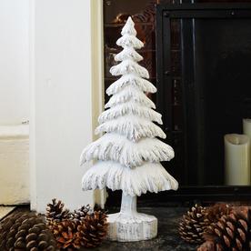 Nordic 2D White Christmas Tree Decoration
