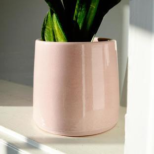Ceramic Pale Blush Cone Planter