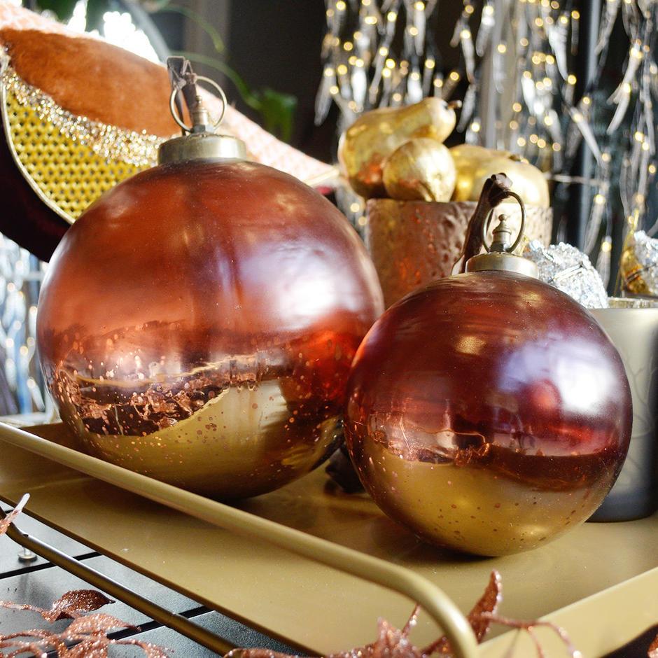 Handblown Giant Glass Baubles