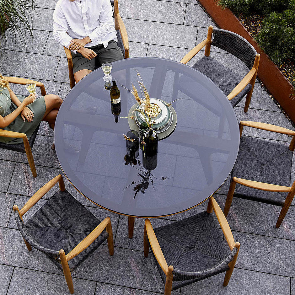 Aspect Round Glass Table Top