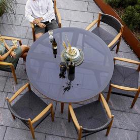 Aspect Round Teak Dining Table Base