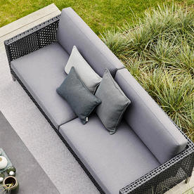 Connect Black Lounge 3 Seater Sofa