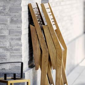 Flip Teak Folding Armchair