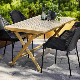 Flip Teak Folding Dining Table