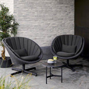 Peacock Rope Outdoor Lounge Swivel Chair
