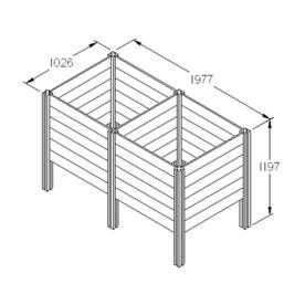 Extension Kit for Slot Down Compost Bin