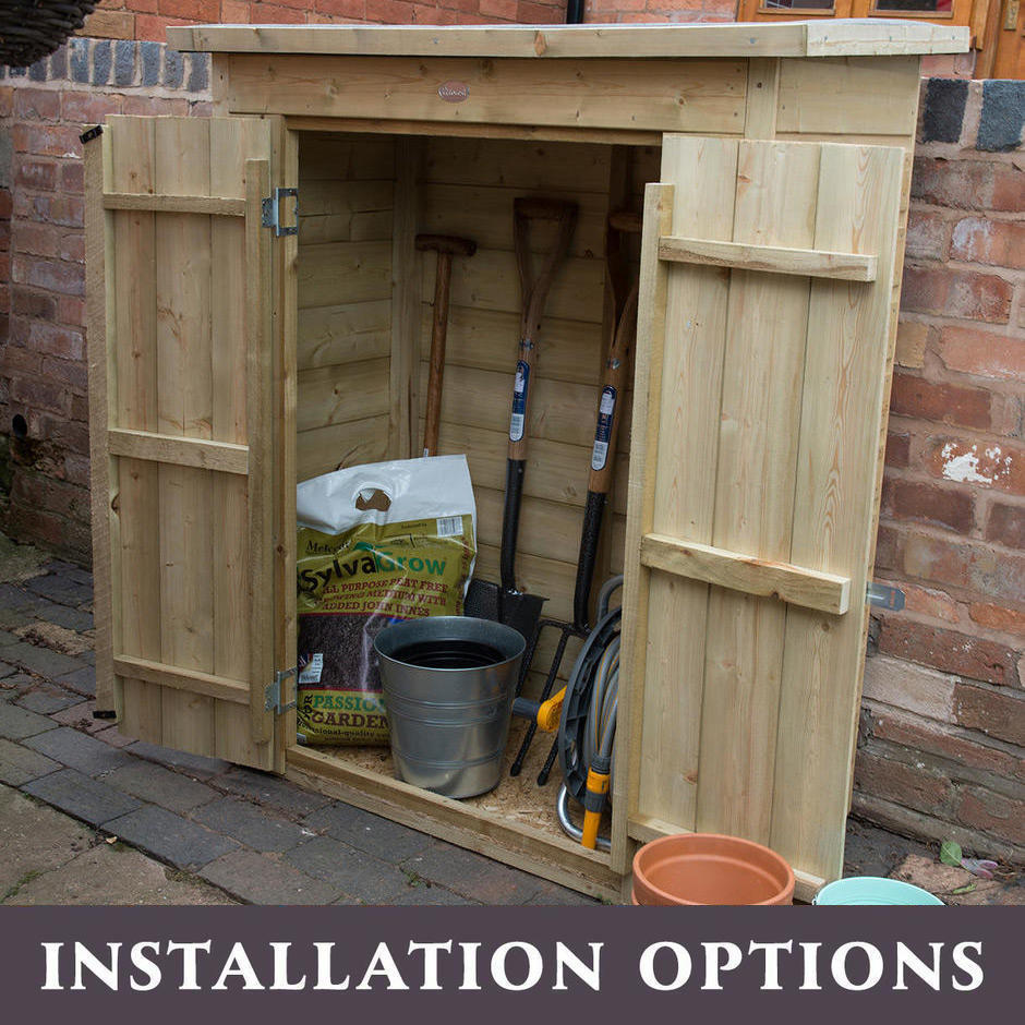 Traditional Pent Roof Shiplap Garden Stores