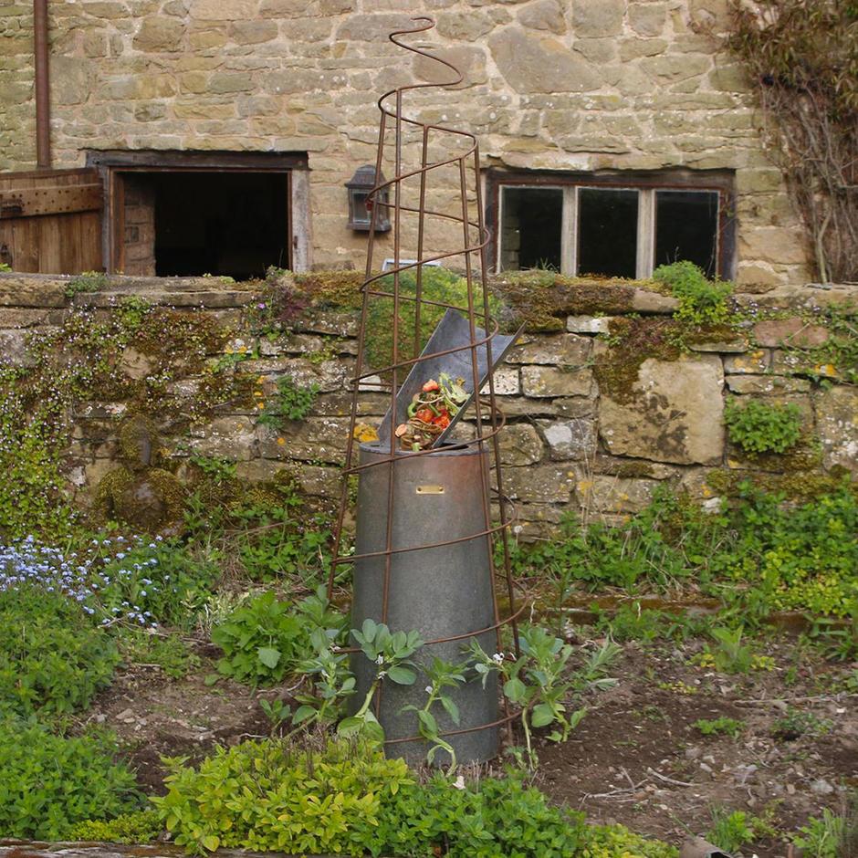 Composter with Spiral Obelisk