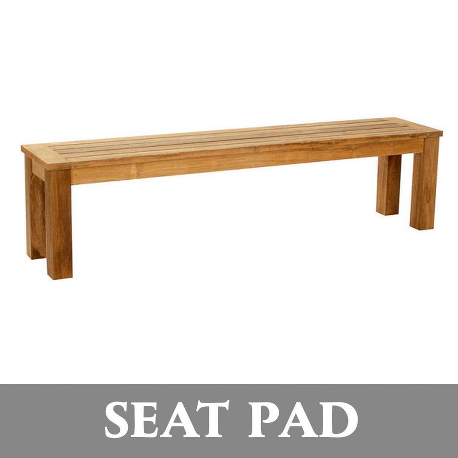 Antibes Teak Bench Seat Pads