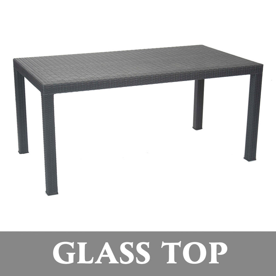 Nimes Outdoor Dining Table Glass Top
