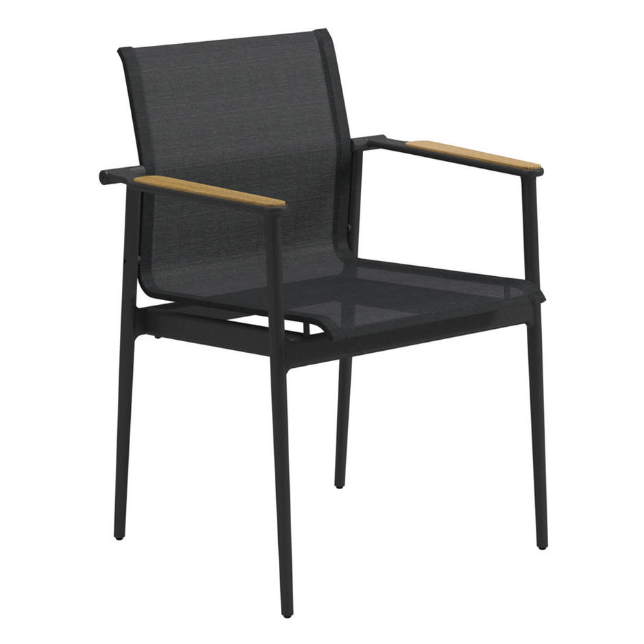 Gloster 180 Dining Chairs with Teak Arms