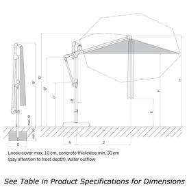 Sunwing Casa Easy Square Cantilever Parasol