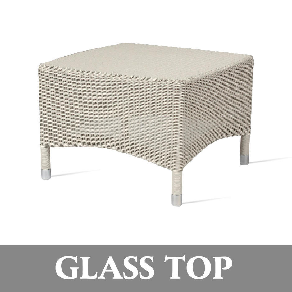 Safi Outdoor Side Table - Glass Top