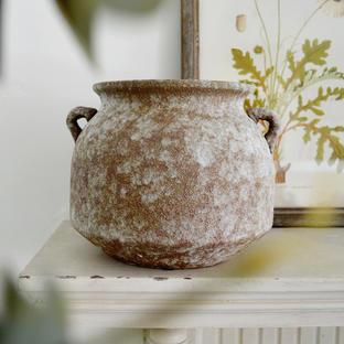Aged Porcelain Belly Pot