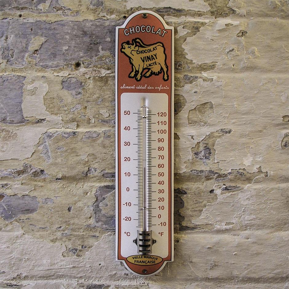 Enamel Outdoor Chocolat Vinay Thermometer