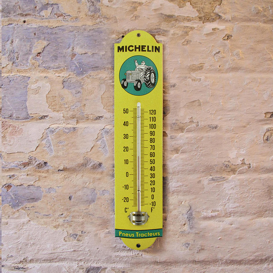 Enamel Outdoor Michelin Tractor Thermometer
