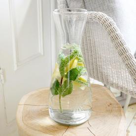 Water Carafe with Vintage Flower Design