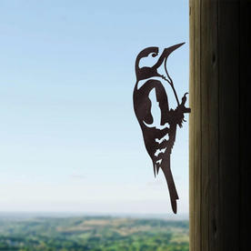 Metalbird Great Spotted Woodpecker Silhouette