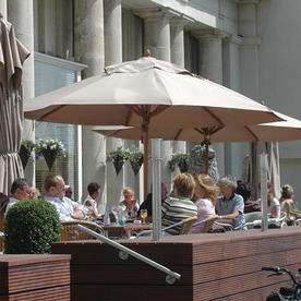 Classic Wood Framed 4.0m Round Parasols