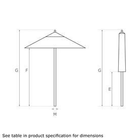 Classic Wood Framed 1.9m Square Parasols