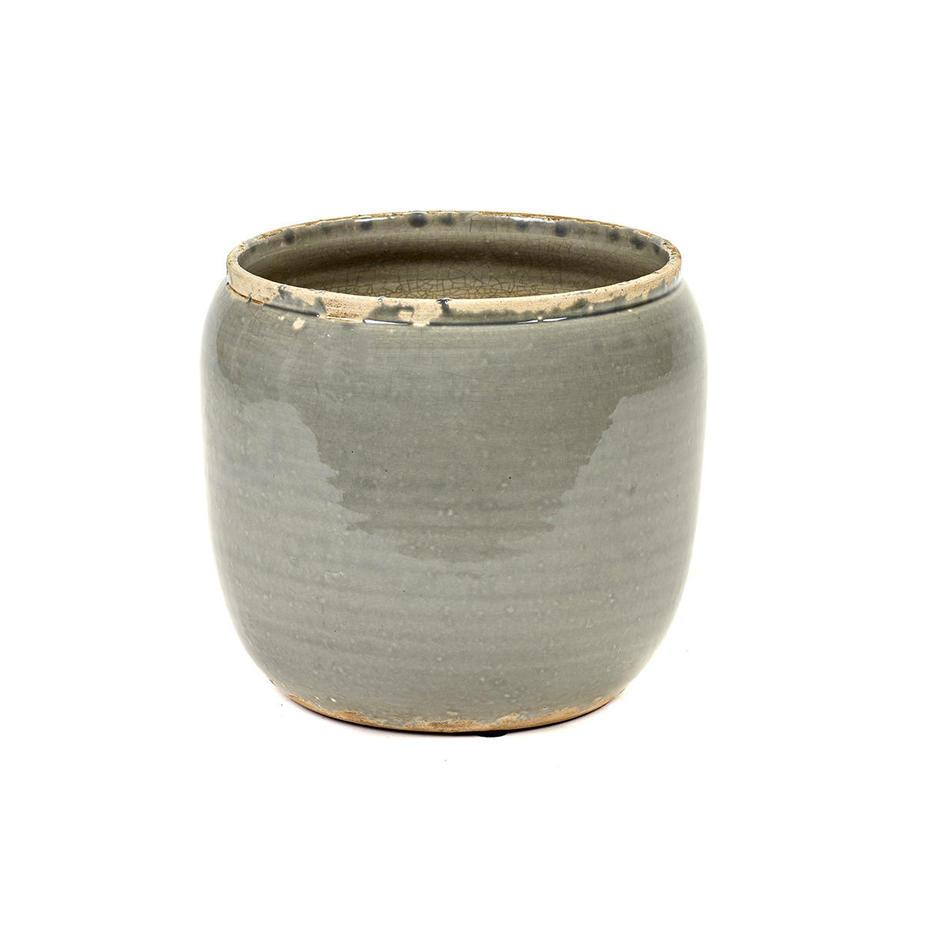 Ceramic Indoor Grey Plant Pot
