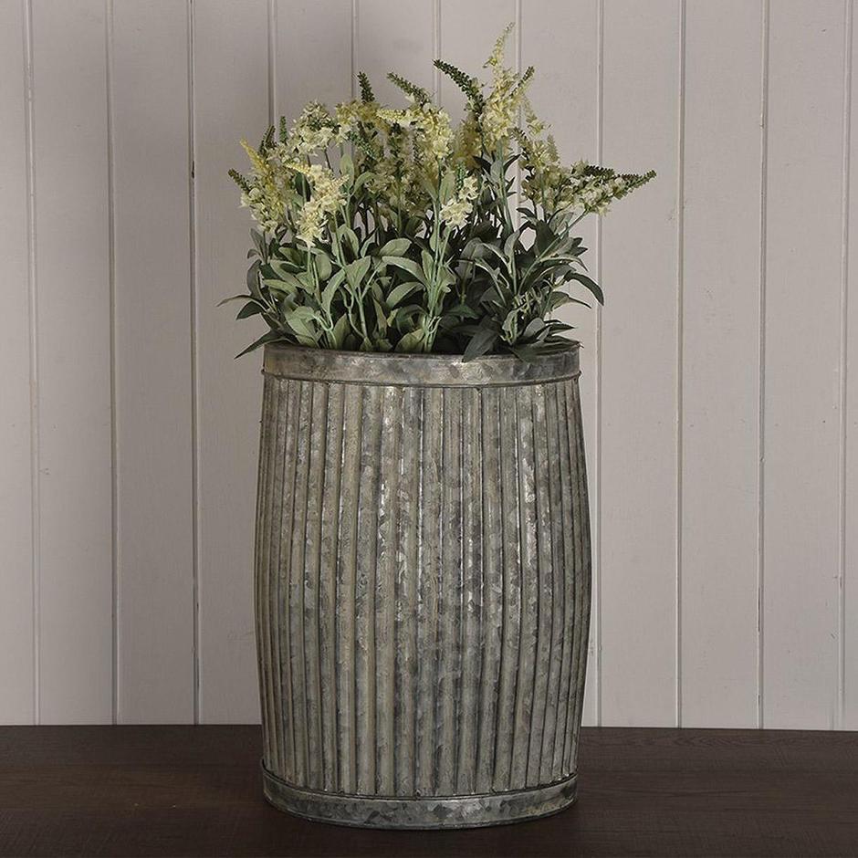 Zinc Dolly Tub Planter