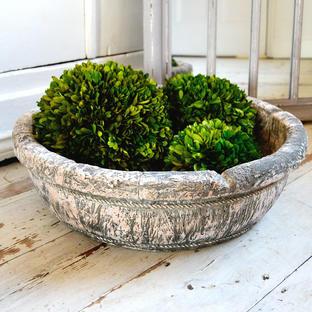 Provincial Stone Effect Decorative Bowl