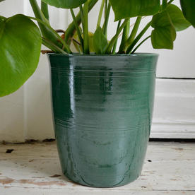 Rich Green Glazed Indoor Pots