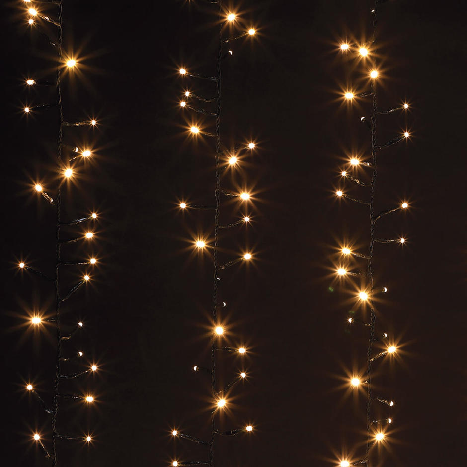 Cascading LED Curtain String Lights