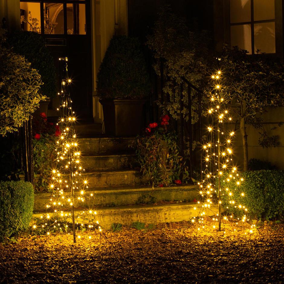 Pair of Illuminated LED Doorstep Trees