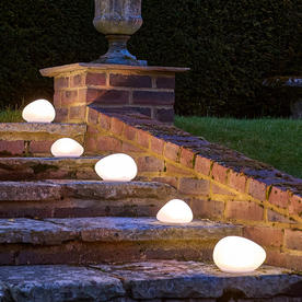 Solar Glass Stone Light