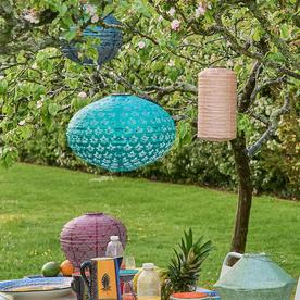 Solar Ellipse Outdoor Summer Lantern