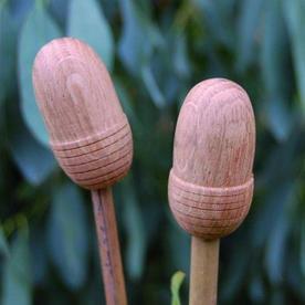 Oak Cane Caps