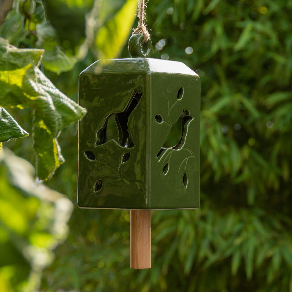 Ceramic Windchimes with Bird design