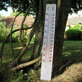 Large Metal Garden Thermometer