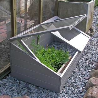 Wooden Coldframe - Grey