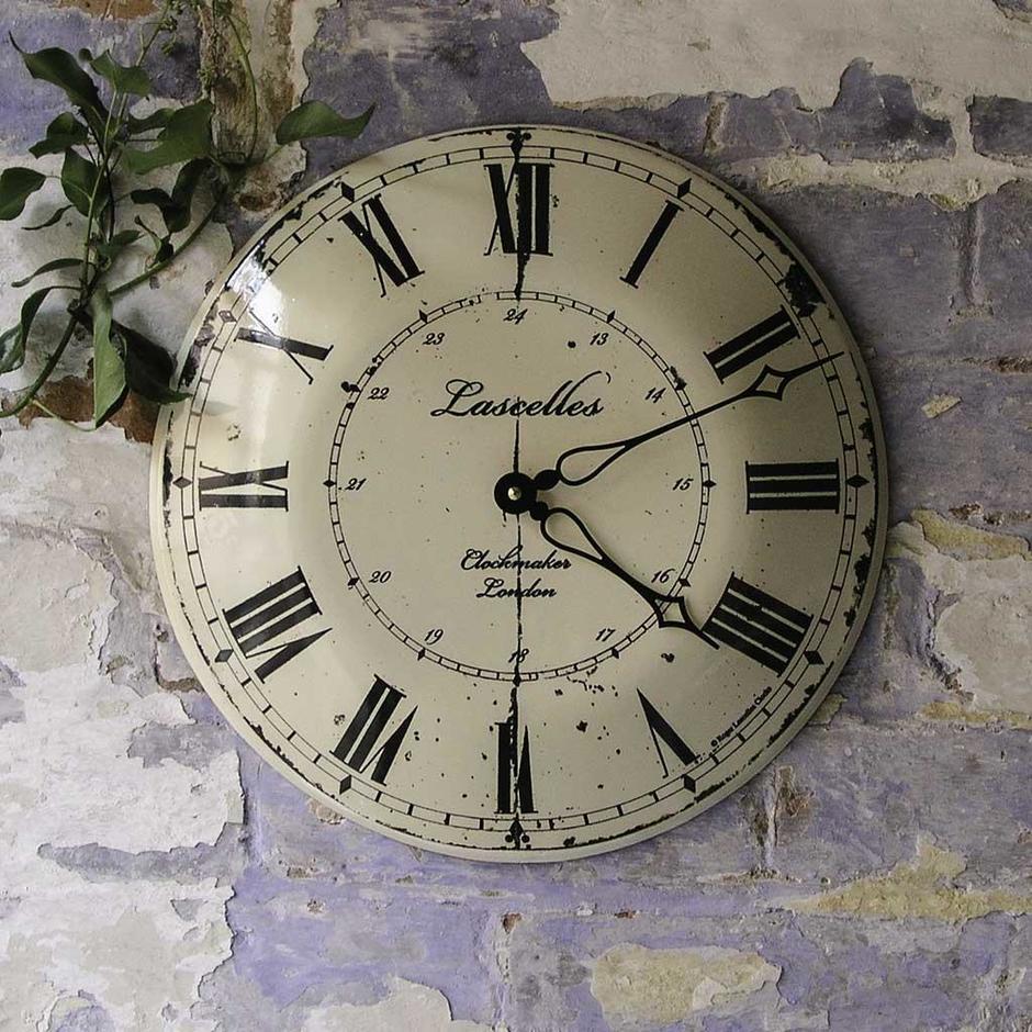 Enamel Vintage Style Clock