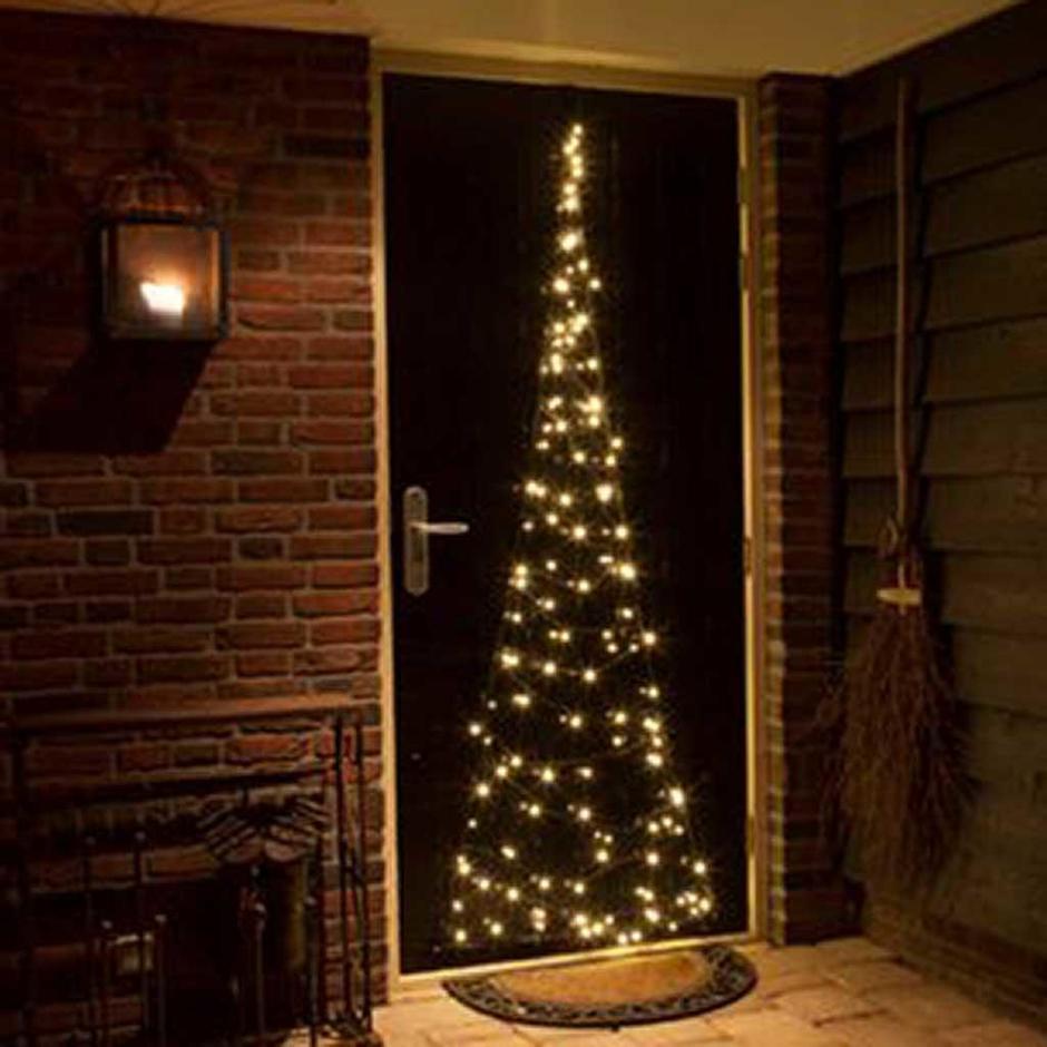 Outdoor Door Illuminated Christmas Tree