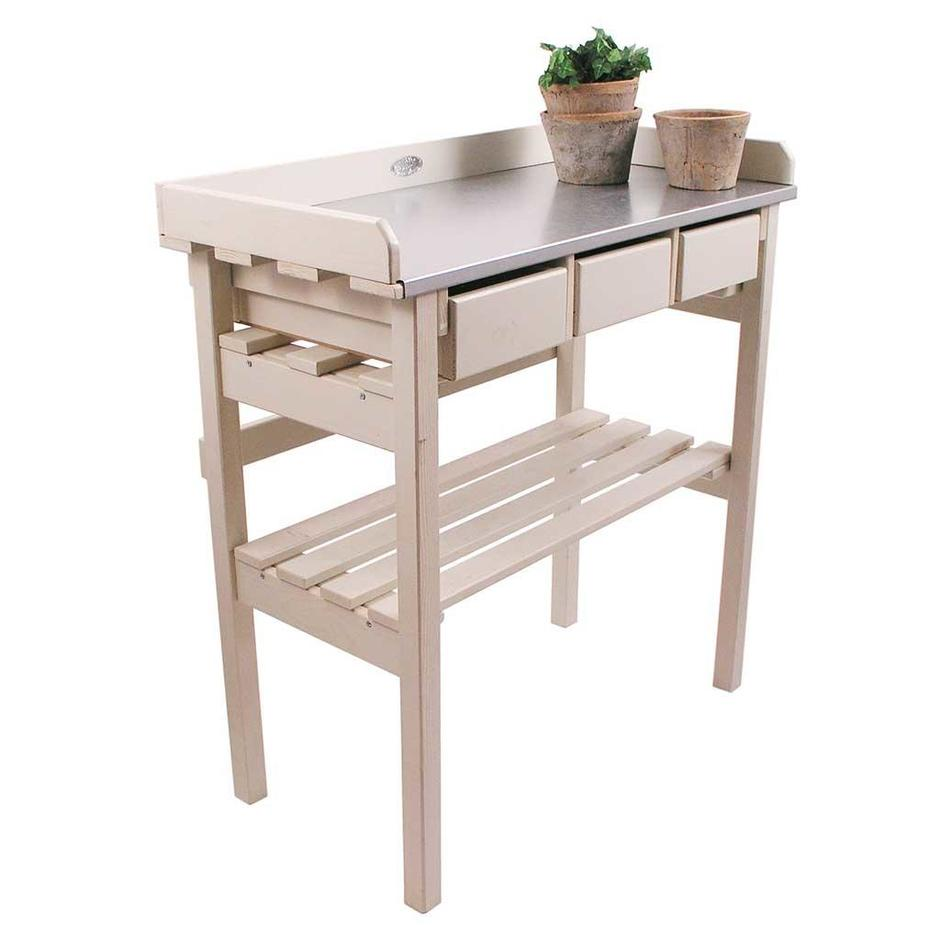 Buy Small Cream Potting Table The Worm That Turned