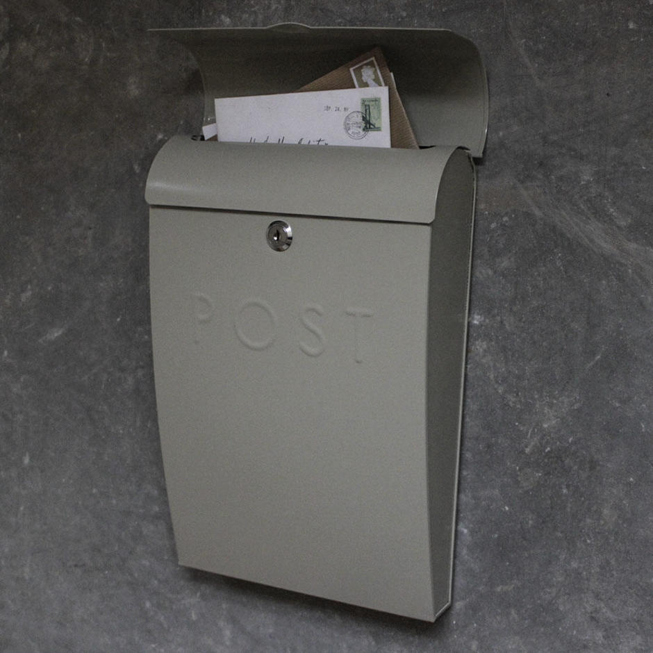 Lockable Post Box Clay