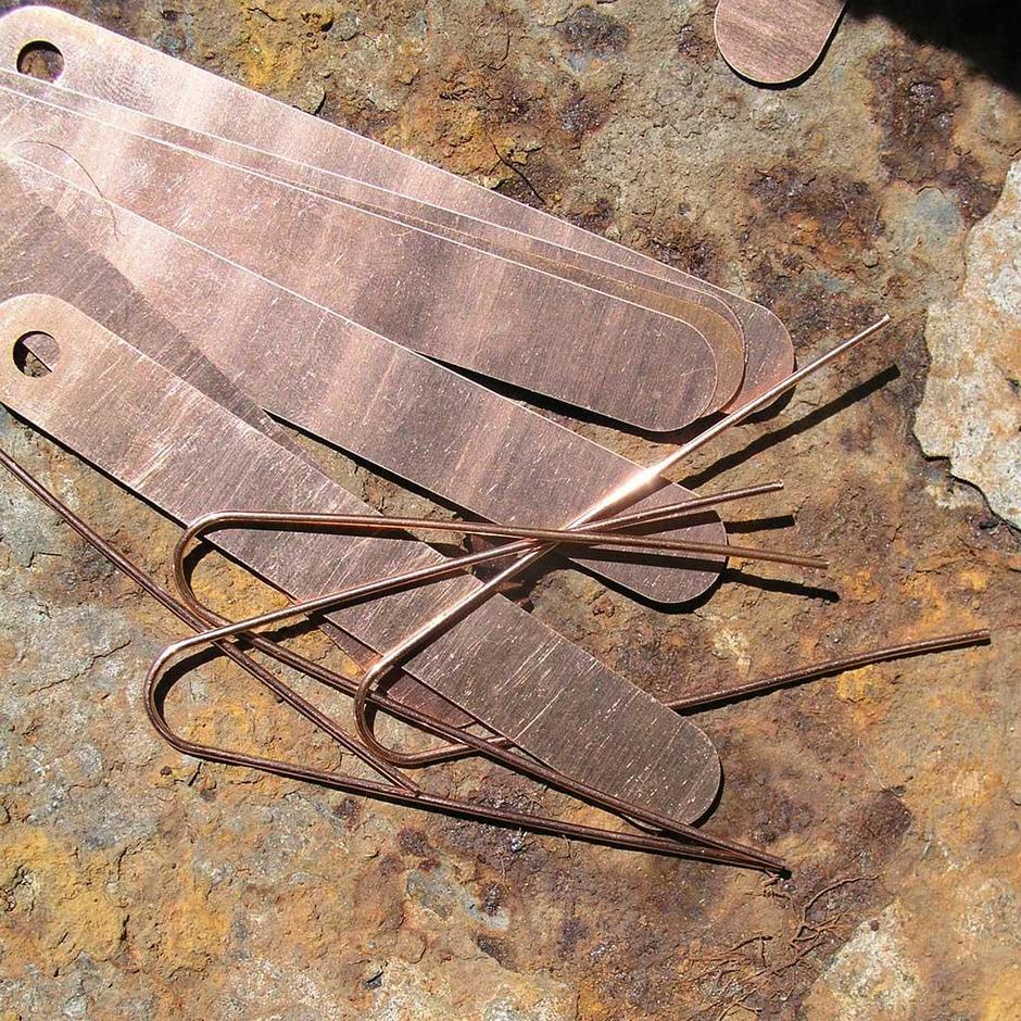 Copper Plants Tags