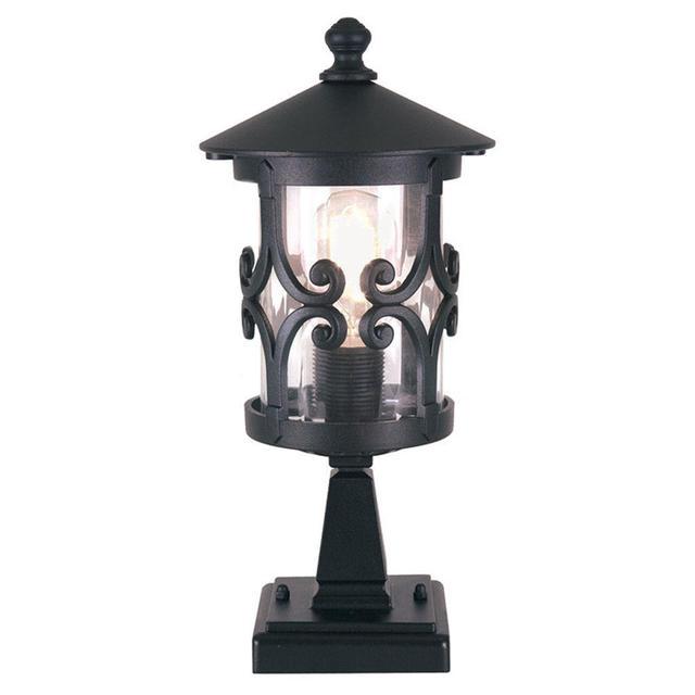 Buy Hornbaek Outdoor Pedestal Lantern By Elstead Lighting: Buy Hereford Scroll Outdoor Pedestal Lantern By Elstead