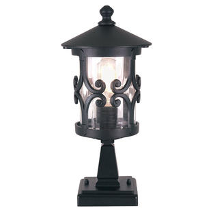 Hereford Scroll Outdoor Pedestal Lantern