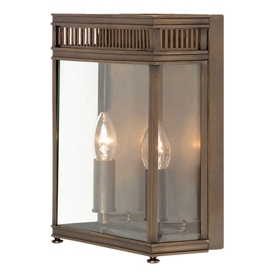 Holborn Brass Outdoor Wall Lanterns