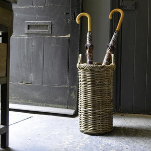 Rattan Tall Umbrella Basket