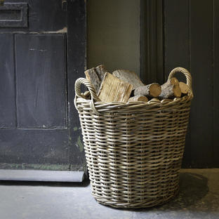 Rattan Log Basket