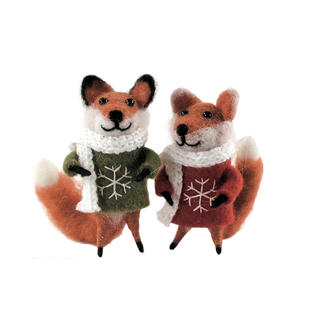 Felt Fox with Christmas Jumper